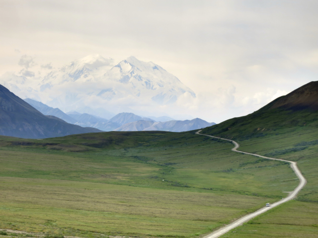 Mt McKinley. The Natives called it Denali, which means 'The Great One'