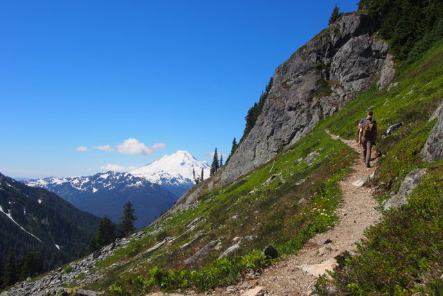Heading up the Winchester Mountain trail