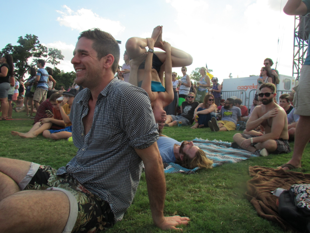 The inevitable yogis at every festival